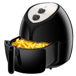 Home Kitchen Family Capacity Air Fryer 6.3 Qt Black Mechanic