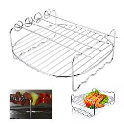 Stainless Steel BBQ Rack Replace Double Layer Baking Tray To