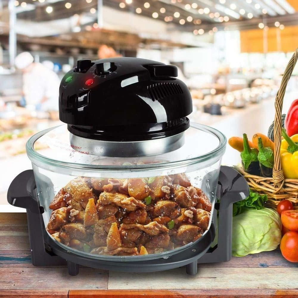 NutriChef 1000W Fryer, Roaster Black