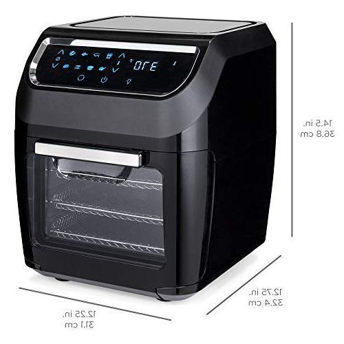 Best Products 11.6qt 1700W Fryer Oven, Rotisserie, Kitchen Set w/ 8