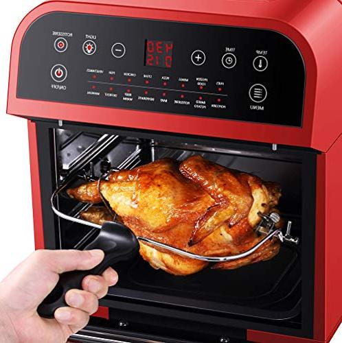 GoWISE USA Electric Air w/Rotisserie and Dehydrator, + and 50 Air Fryer Oven