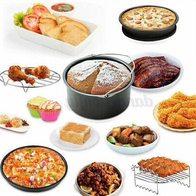 "124Pcs 8"" Air Accessories Pizza Plate For 3.7-6.8QT"