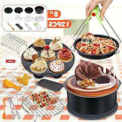 12pcs 8 air fryer accessories set cake