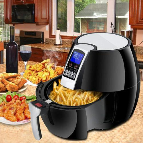 1500w lcd electric air fryer w 8