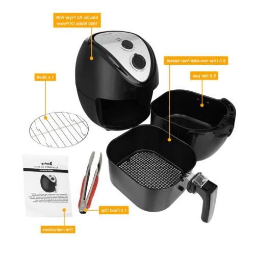 1800W Electric Fryer,Temperature Timer NO Oil