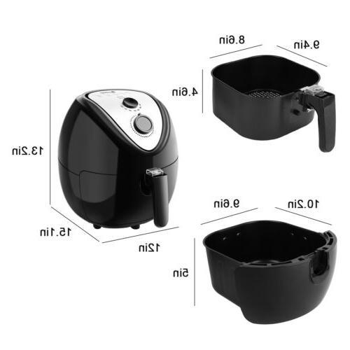 Electric Fryer 6.8Qt 1500W Digital Timer Control less