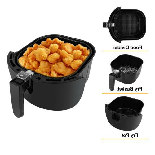 Electric Fryer 1500W Digital Timer Control less