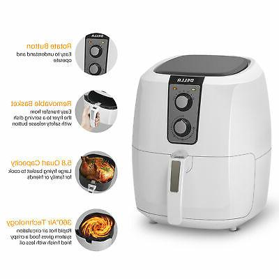 DELLA Electric AirFryer Fryer XL -White