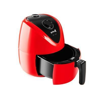 3.5L 1500W Air Fryer Low Timer & Temperature Red