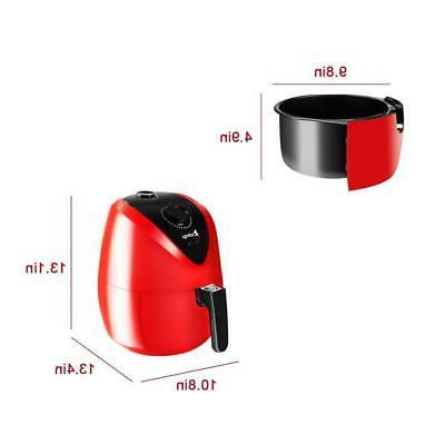 3.5L 1500W Fryer Timer & Temperature Red