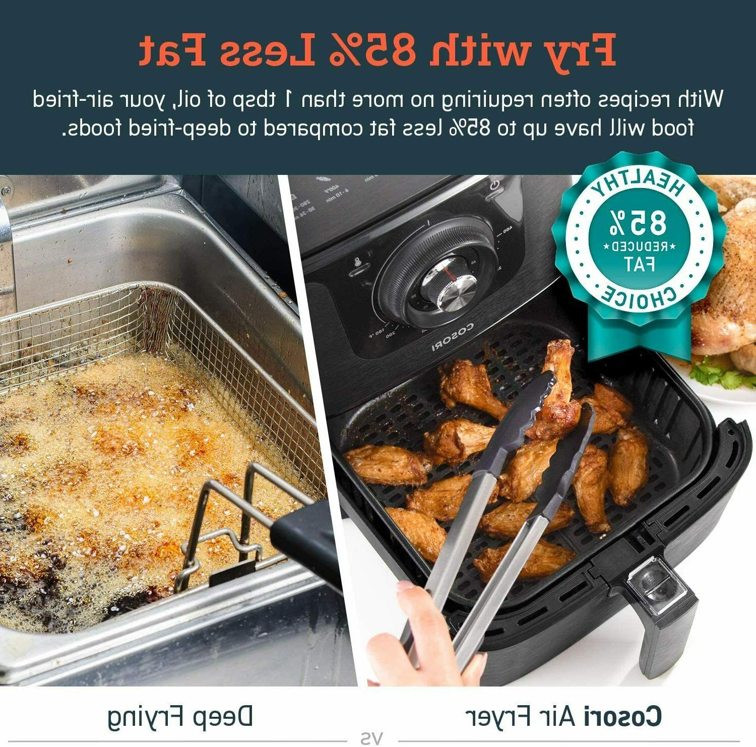 COSORI Qt Fryer Oilless Cooker 1500W 30 Yr Black