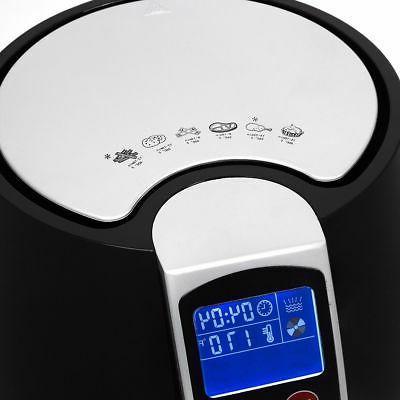 3.7QT 1500W Fryer cooker 8 Cooking Menu Setting Digital