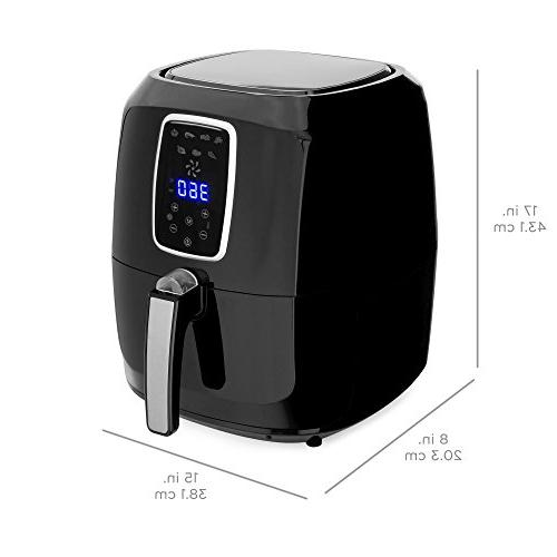 Best Choice Products 5.5qt 7-in-1 Digital Air Fryer w/LCD Screen, Black