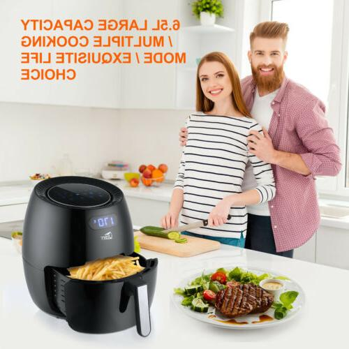 6.87Qt Touch Screen Time Control Oil Free Oven