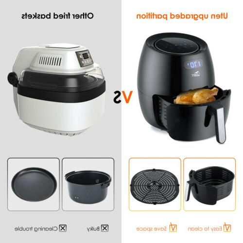 6.87Qt Touch Screen Temperature Control Oil Free Cooking Oven