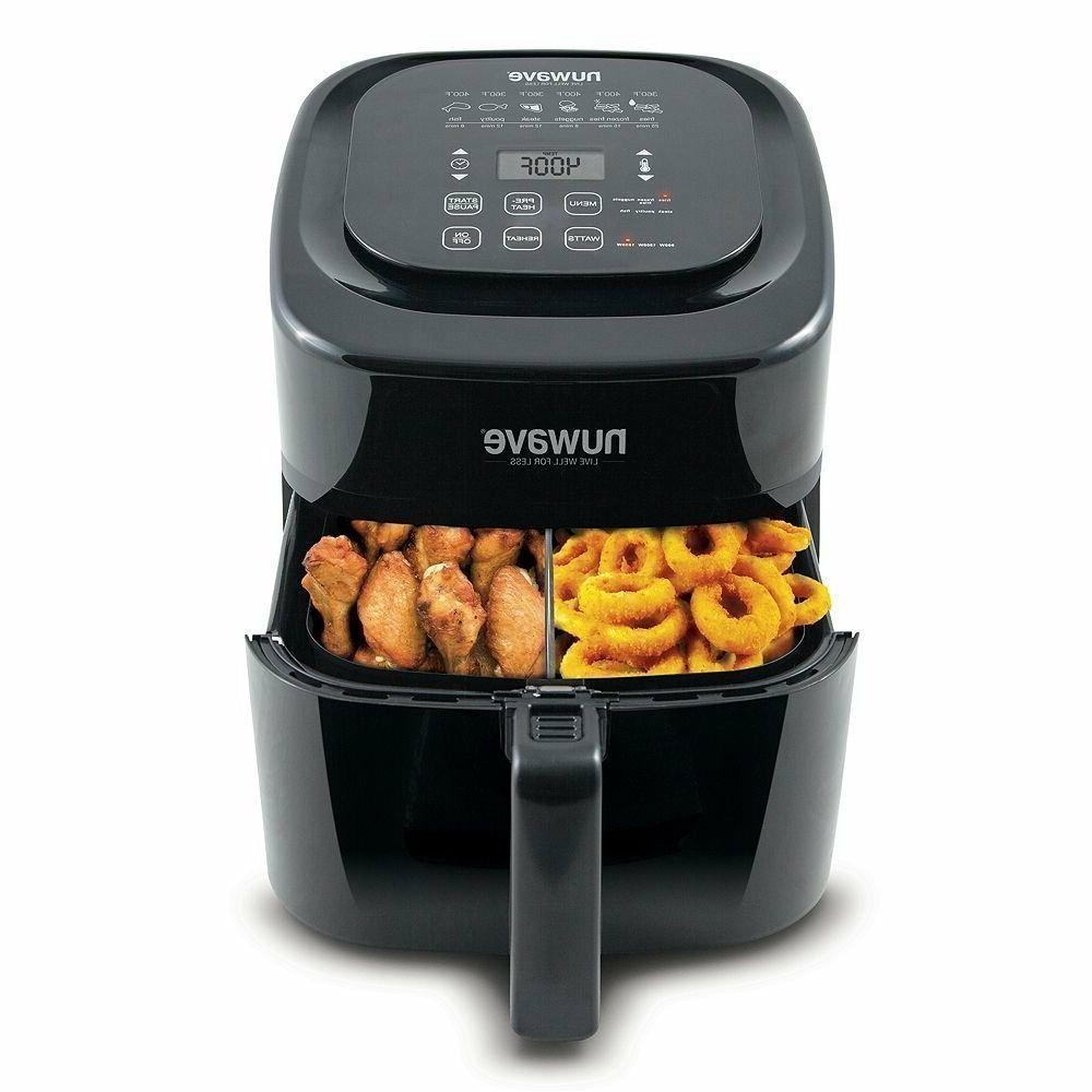6 Qt Digital Air Fryer Black Non Stick Kitchen Dining Health