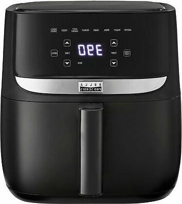 6 qt touchscreen air fryer black matte