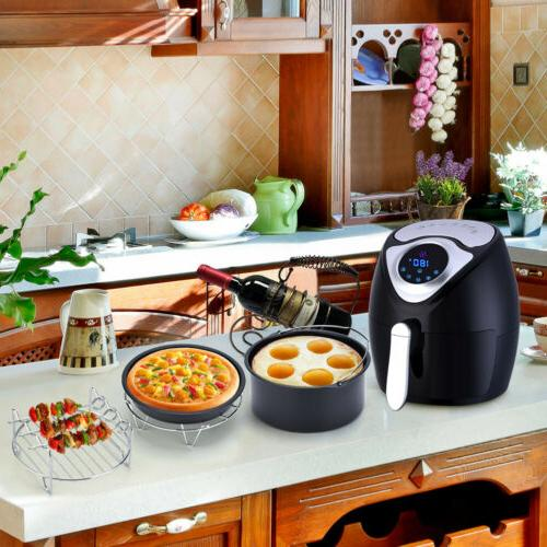 "5 in 1 7"" Air Fryer Accessories Healthy Airfryer Chips Bakin"