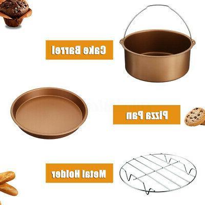 7'' Air Set BBQ Chips Pan Baking 3.2-5.8QT