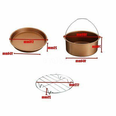 7'' Air Set BBQ Pan Tray 3.2-5.8QT