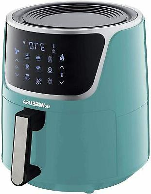GoWISE USA 7 Qt. Extra Large Digital Fryer with Dehydrator Mint/Silver