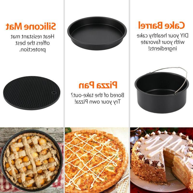 22PCS Air Fryer Frying Cage Dish Baking Pan Pot Accessories