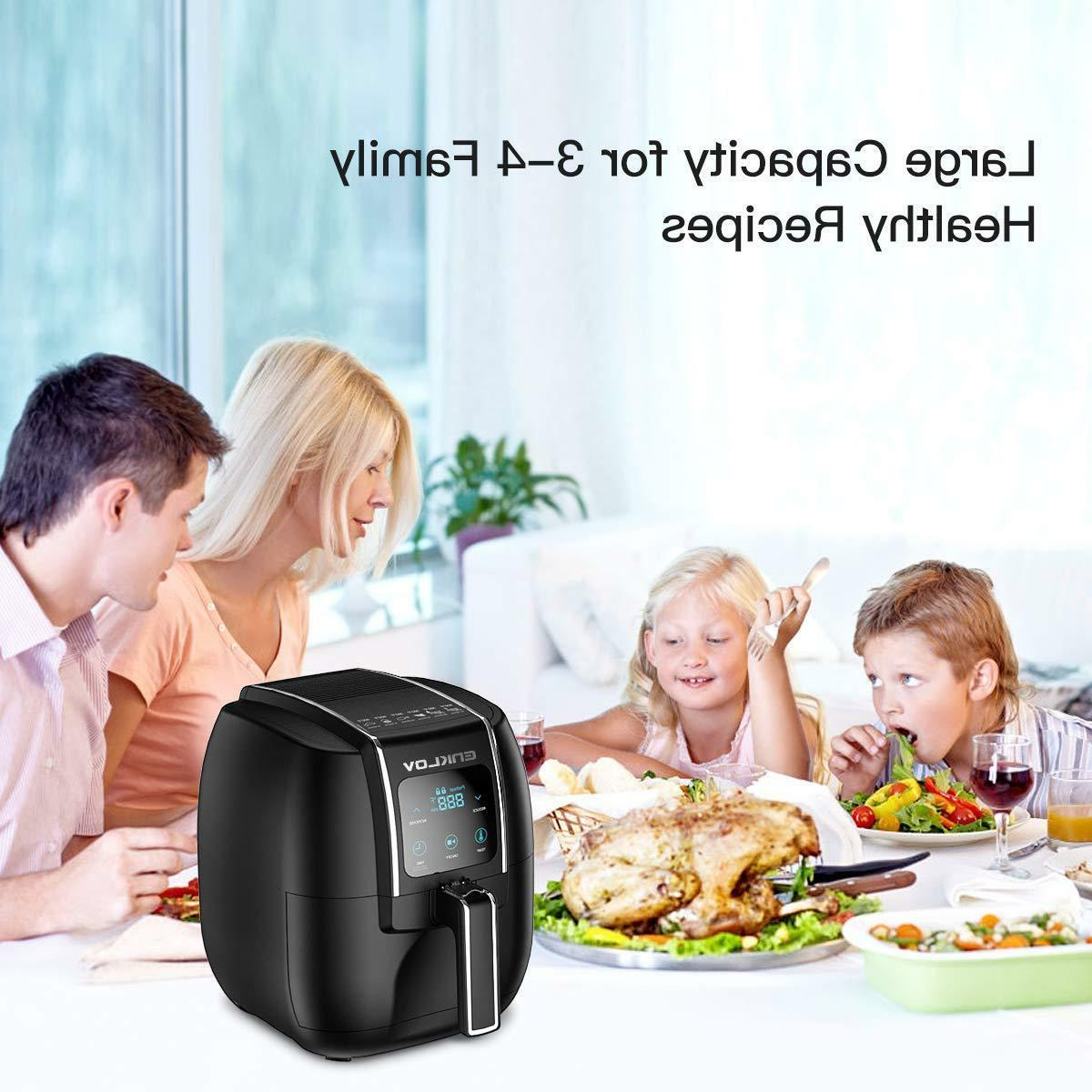Air Fryer 5.5QT XL with 8 in 1 Control Oil Less