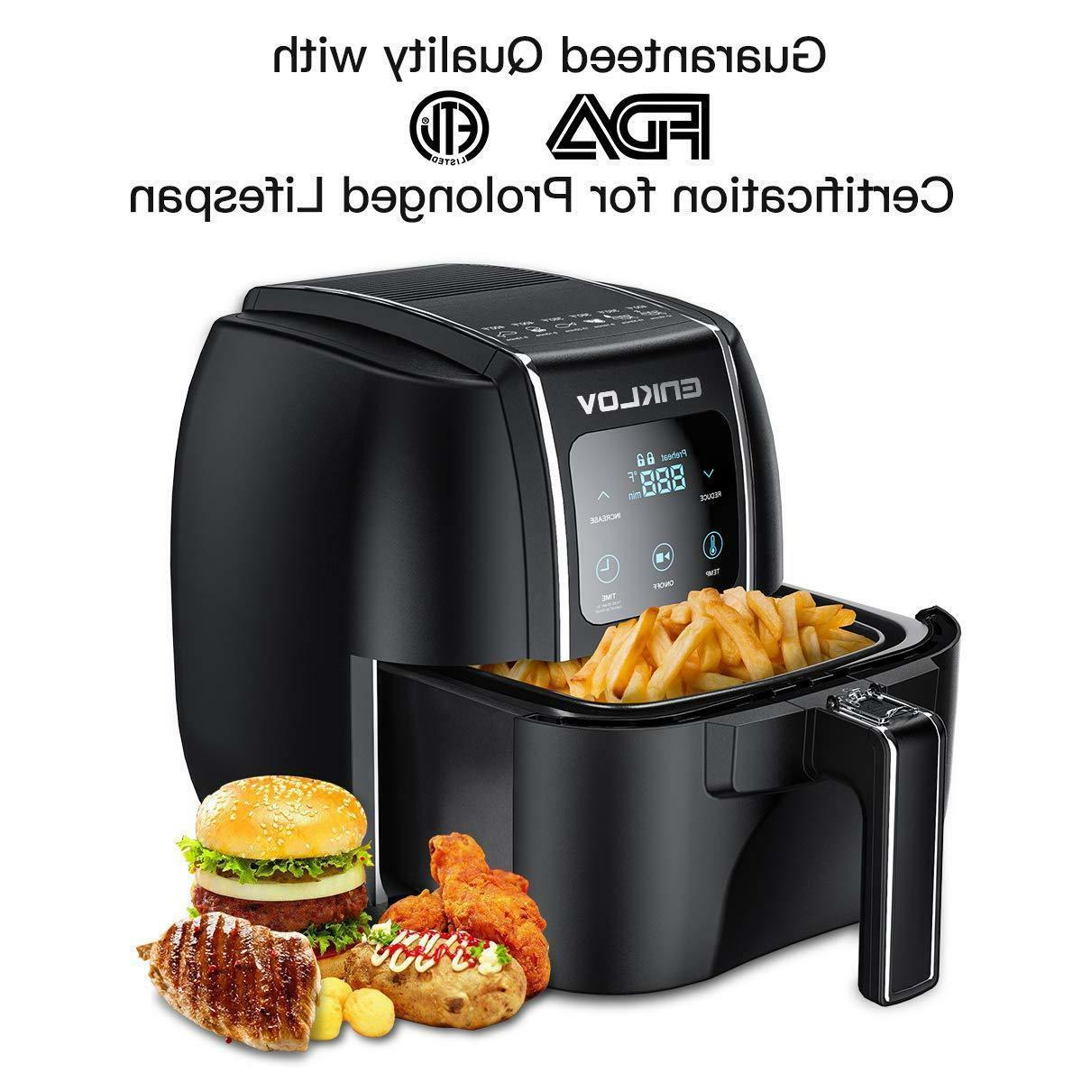 Air Fryer 5.5QT XL with ENKLOV 1 Control Oil Less