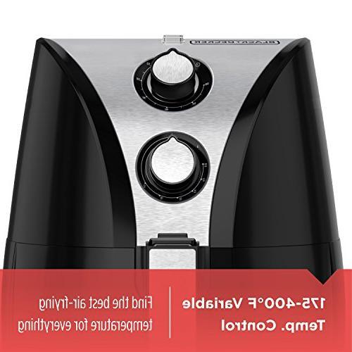 BLACK+DECKER Purify 2-Liter Air Fryer, Steel, HF110SBD