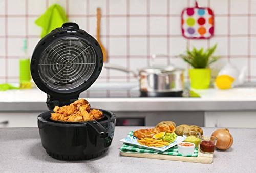Elite 3.5 Quart Air Fryer Cooker, 26 Full Color
