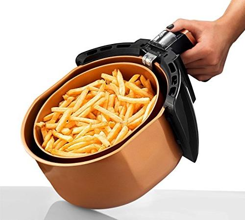 Gotham XL Rapid Air Oil Free Healthy Cooking Adjustable Control Auto Shutoff–Dishwasher Safe Nonstick on