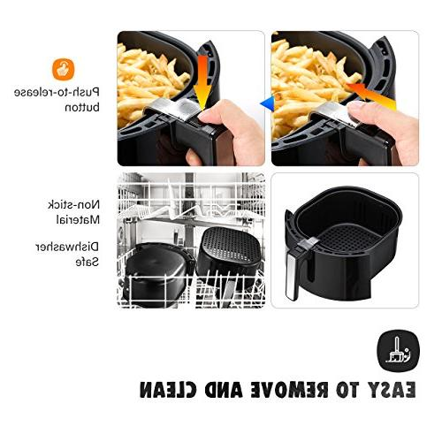 OMORC XL, 5.8QT Airfryer Oven Oilless Cooker Circulation Healthier Food, Presets Function Screen