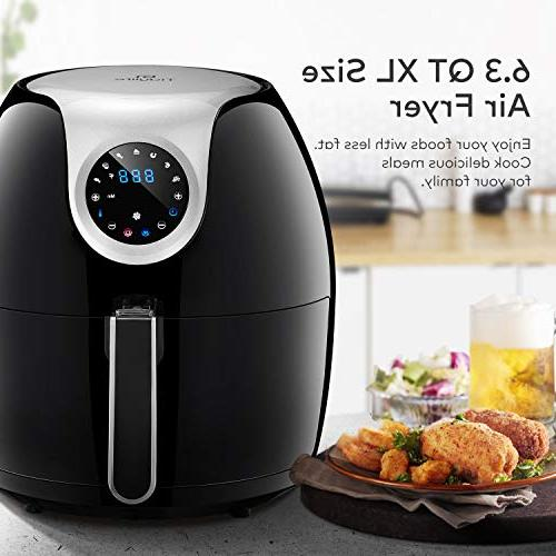 Tidylife Air 1700W in 1 Cooking Timer, ℉ Cooking, Shut Off, Warranty