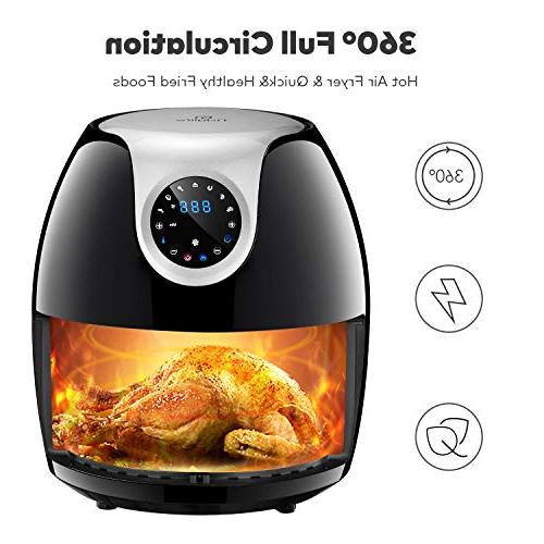Tidylife Air 1700W 8 in 1 One-Touch Cooking Timer, ℉ Fast Cooking, Dishwasher Safe, Shut 18-Month