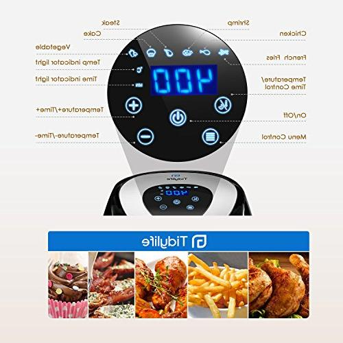 Tidylife Air Fryer, Quarts No-oil Healthy life, Fry Timer,1500W