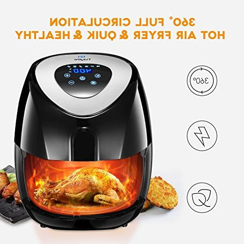 Tidylife Quarts No-oil Airfryer life, Fry Basket,