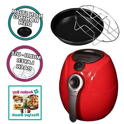 Avalon 3.7QT Airfryer Red