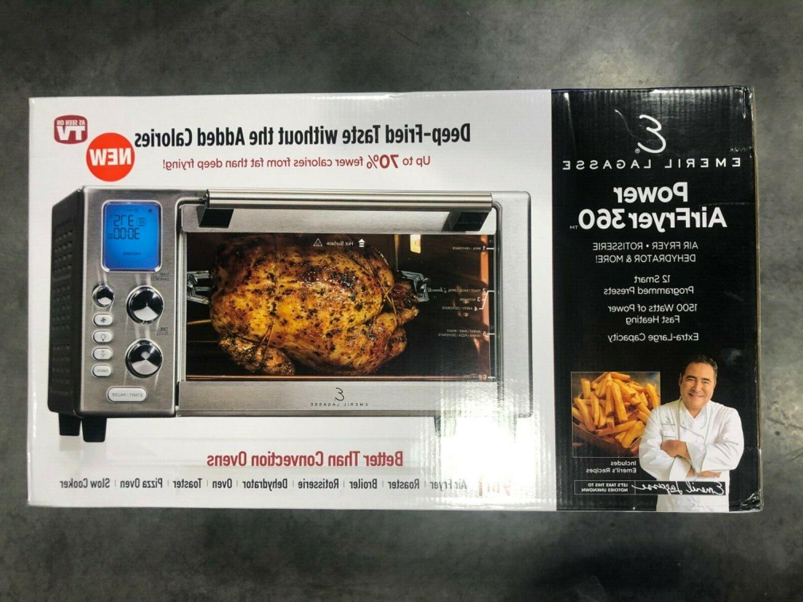 air fry toaster oven brushed stainless steel