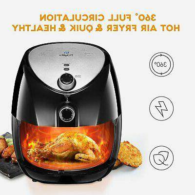 Tidylife Air Fryer Quart Oil-less with Smart Temper...
