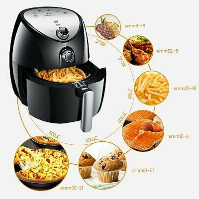 Tidylife Quart Electric Fryer with Smart & Temper...