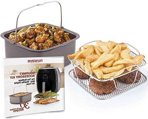 Nuwave 6 Air Fryer with Accessory Pack Air Cookbook