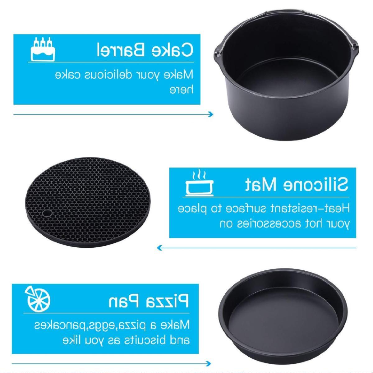 Air-Fryer-Accessories-7-Inch,6 pieces Set for 3.7QT 5.3QT