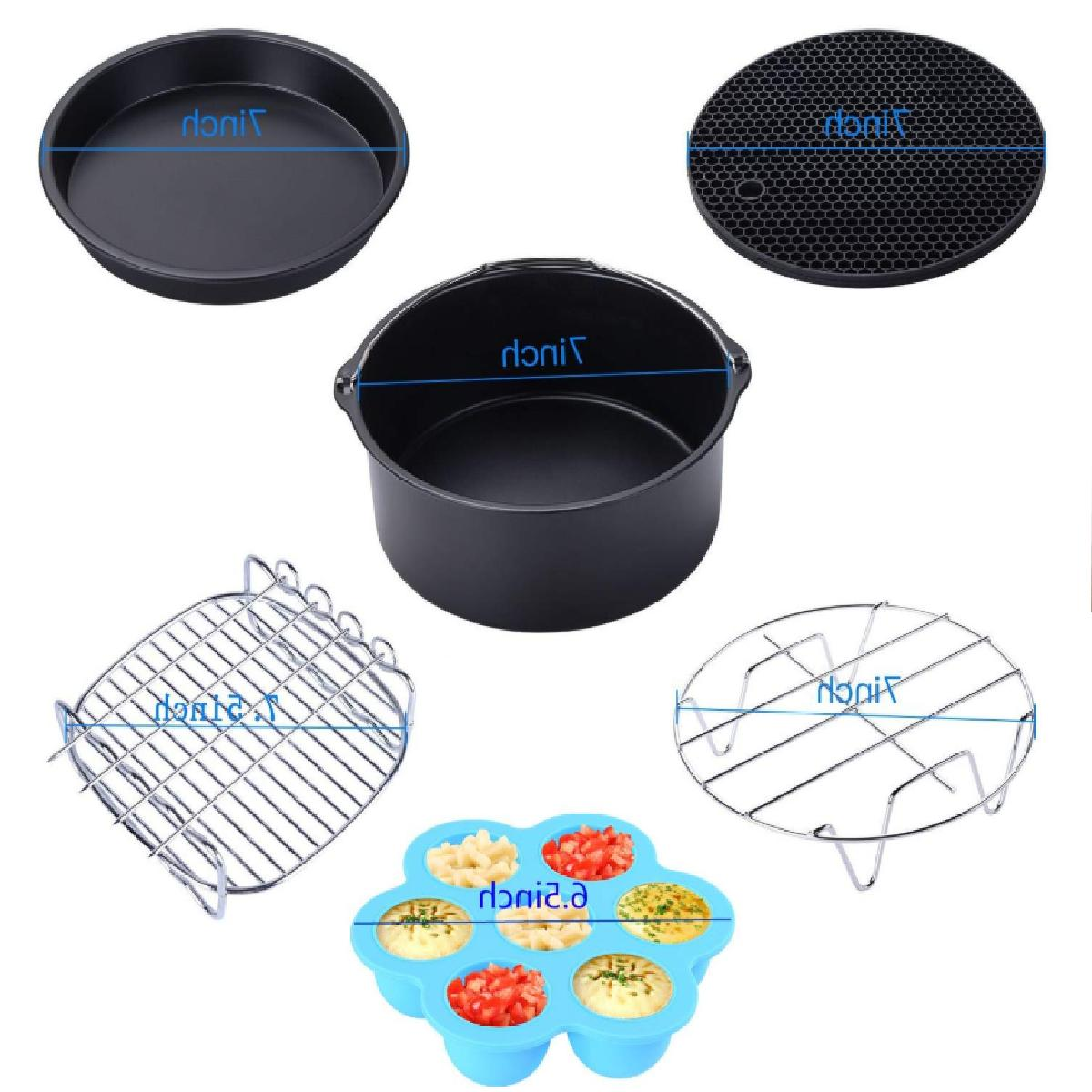 Air-Fryer-Accessories-7-Inch,6 pieces AirFryer Accessory Set for 3.7QT 5.3QT