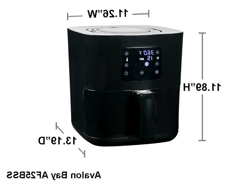 Avalon Bay Air Fryer Digital w/ Stainless AF25BSS -