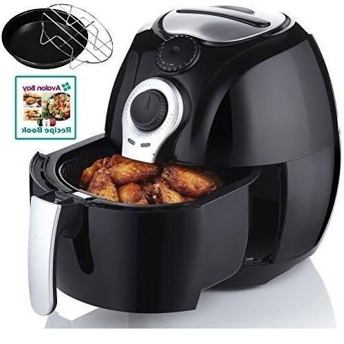 Air Fryer, For Healthy Fried Food 3.7 Recipe Book FRYING Black cookbook