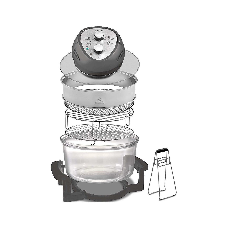 Big Air Fryer Oil 1300W XL Capacity 16-Quart + Cookbook,