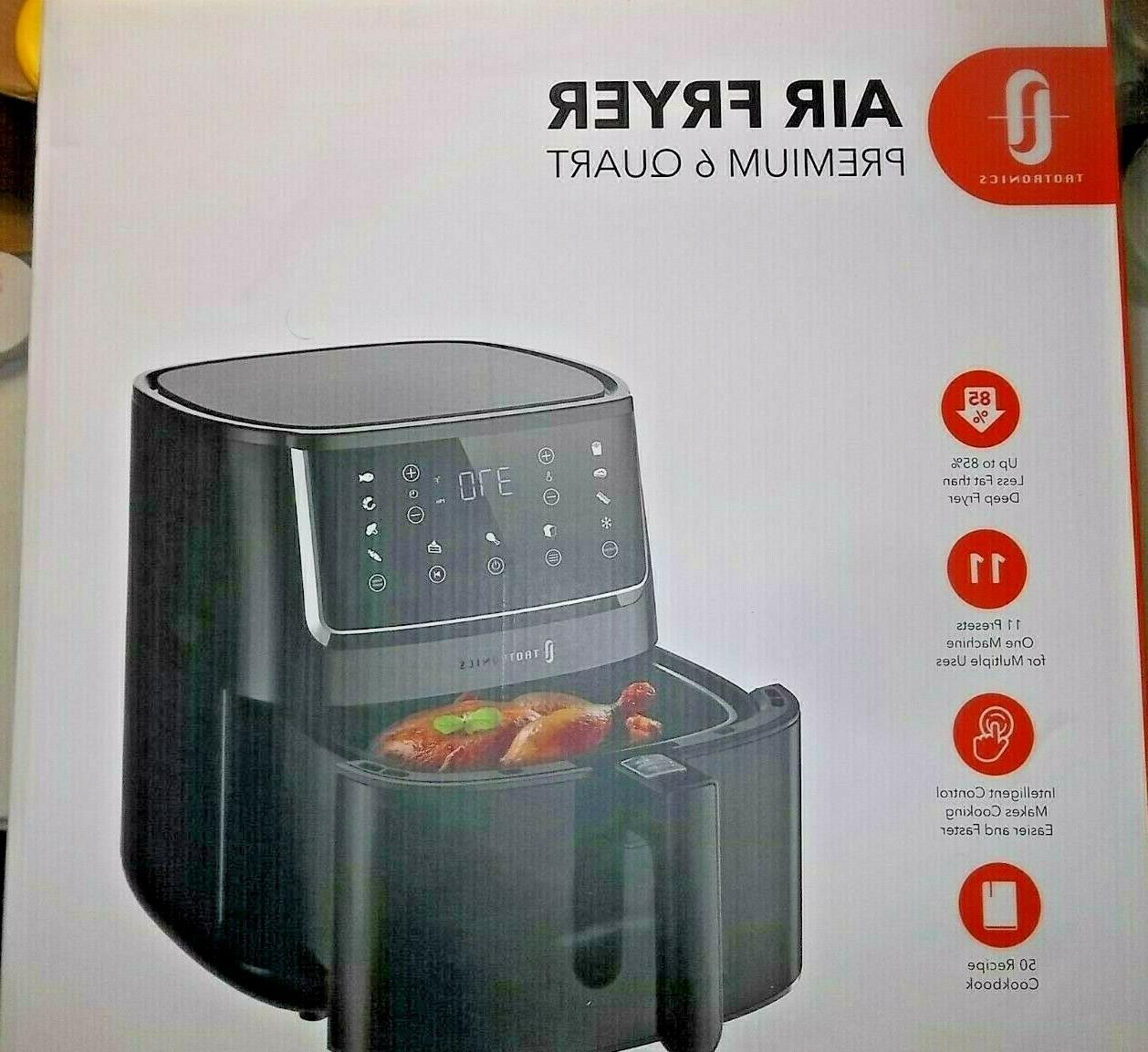 TaoTronics Air Fryer, Large 6 1750W with Control Panel