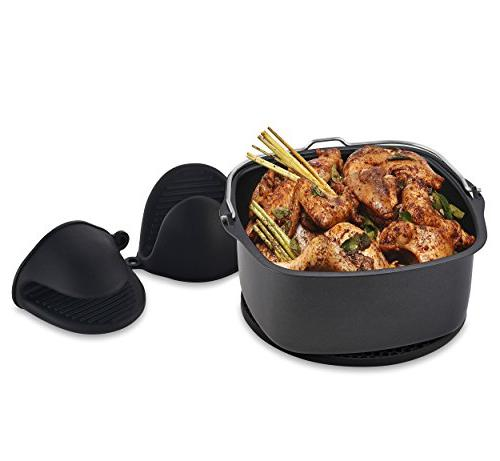 Air Fryer Pan GoWise Airfryer, Cozyna, Avalon Premium Mitts Fryer Accessories-Set