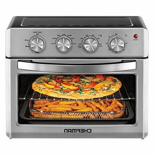 Chefman Air Fryer Toaster Oven-6 Slice-26 QT Convection AirF