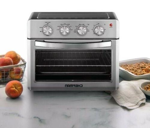 Chefman Air Fryer Toaster Oven, 6 Slice, 26 QT Auto